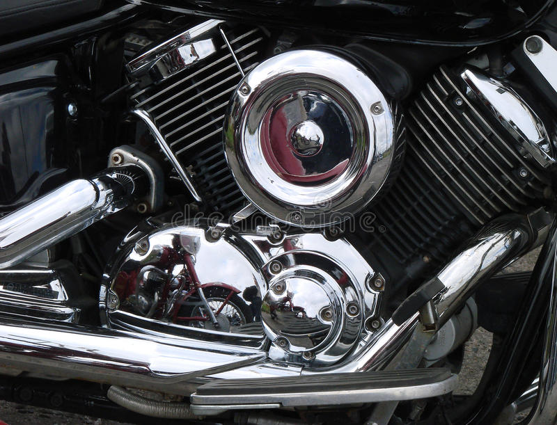 Download Motorcycle chrome engine stock photo. Image of backgrounds - 28802214