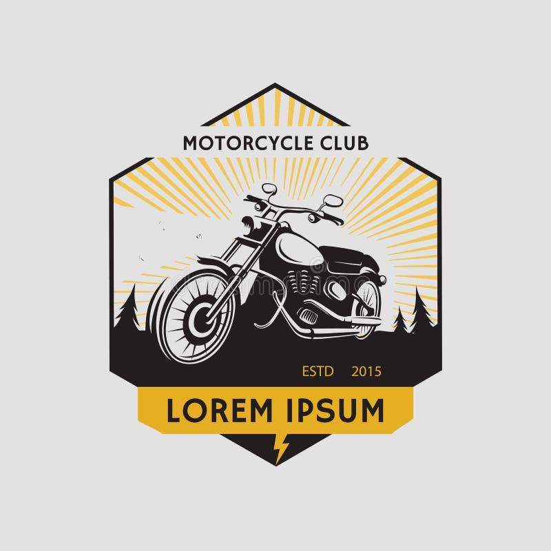 Motorcycle club label. Motorcycle symbol. Motocycle icon royalty free illustration