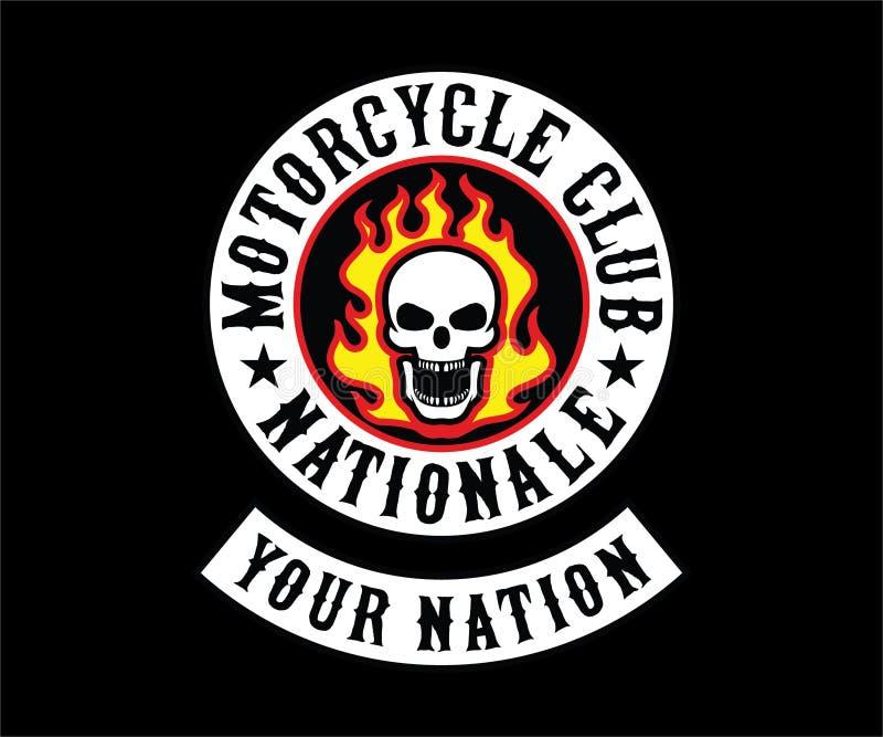 Motorcycle Club Logo, Sticker, Emblem, Symbol stock photo