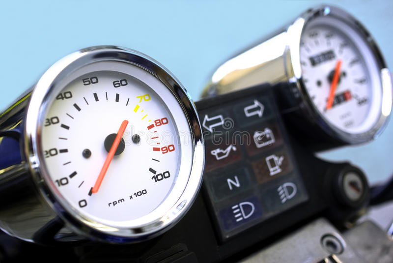 Motorcycle dashboard royalty free stock photography