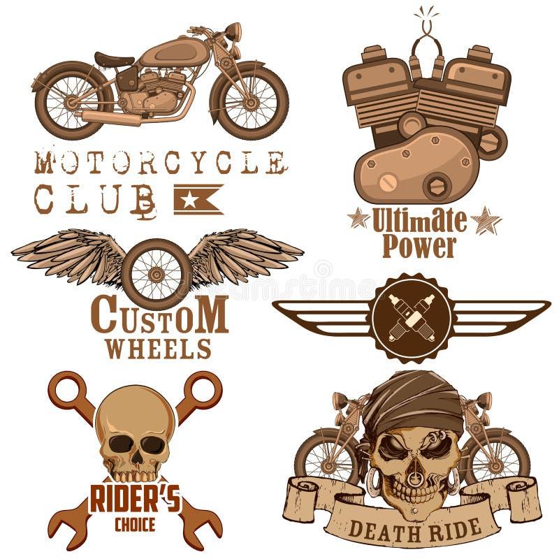 Motorcycle Design Element vector illustration