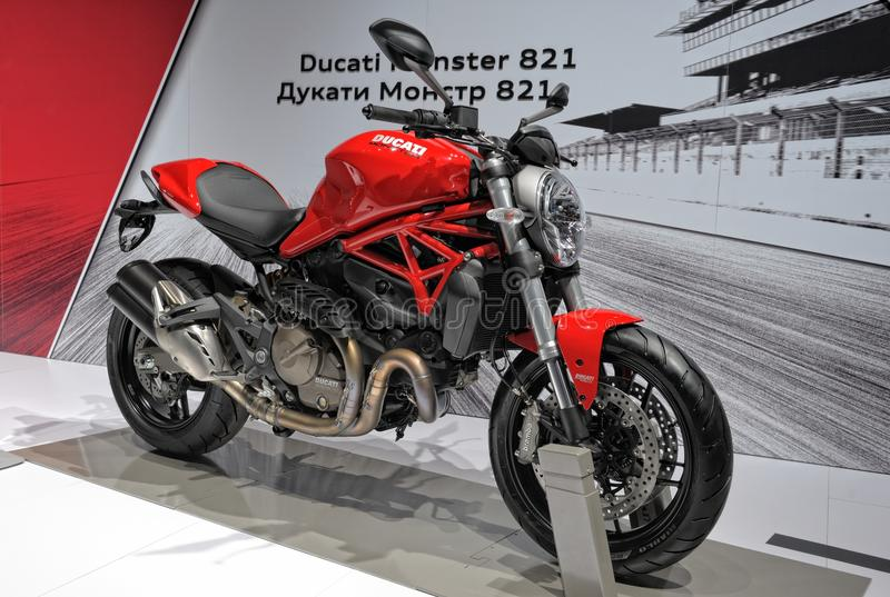 Motorcycle Ducati Monster 821 stock photo