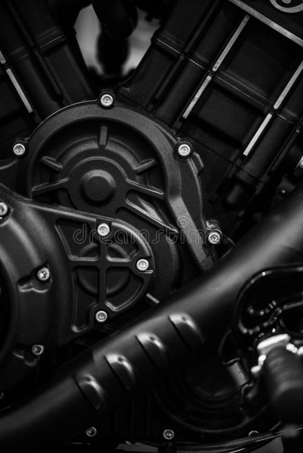 Motorcycle engine detail royalty free stock photography