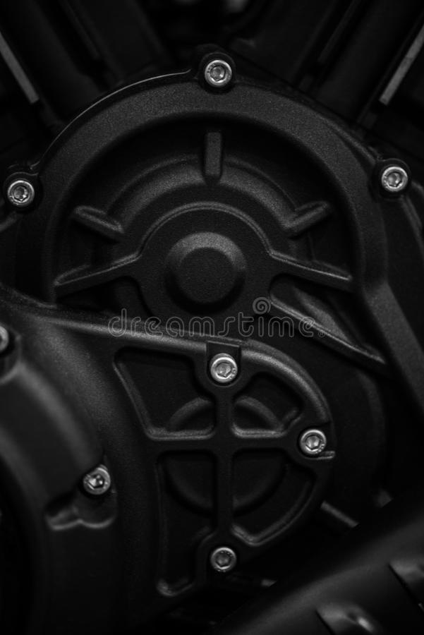 Motorcycle engine detail royalty free stock photos