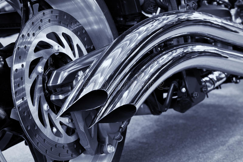 Download Motorcycle exhaust stock photo. Image of bike, wheel - 19455448