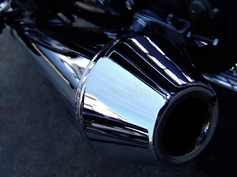 Motorcycle exhaust stock photos