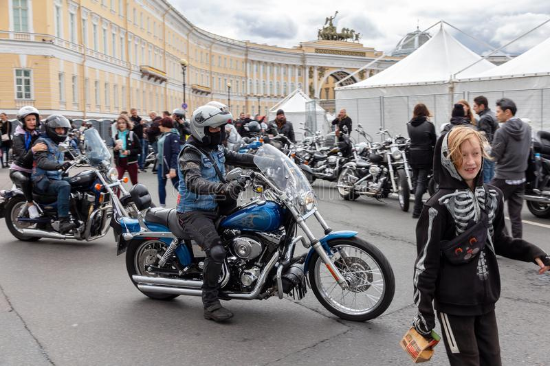 Motorcycle Festival  Bikers ride the show royalty free stock images