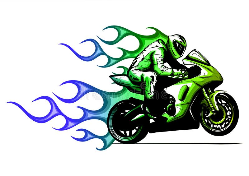 Motorcycle Flames Stock Illustrations – 747 Motorcycle