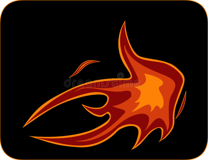Motorcycle flame style symbol stock illustration