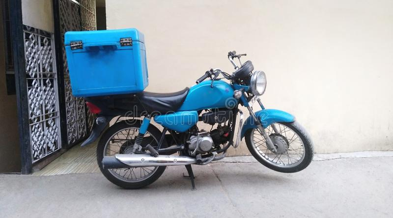 Motorcycle for food delivery royalty free stock photo