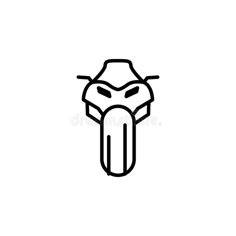 motorcycle in front icon. Element of motorbike for mobile concept and web apps illustration. Thin line icon for website design and royalty free illustration