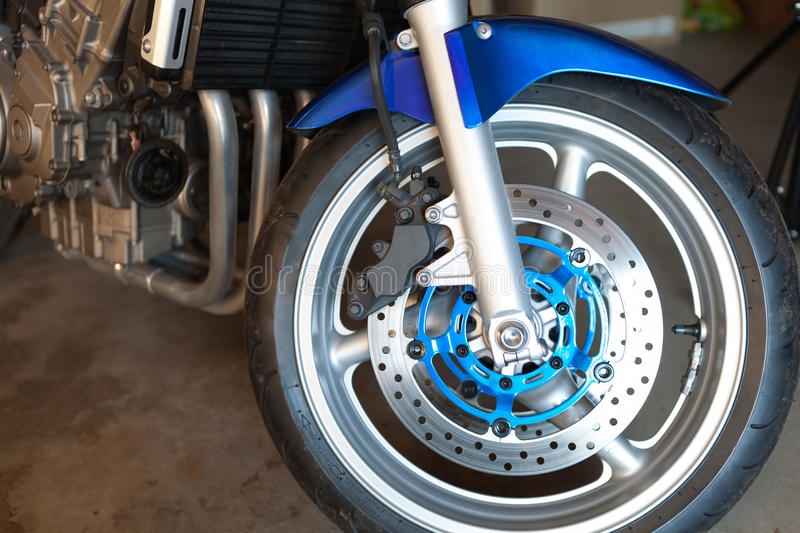 Motorcycle Front Wheel stock images