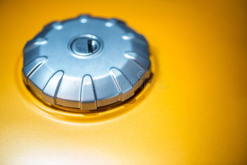 Motorcycle gas tank cap royalty free stock photography