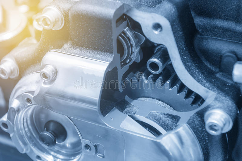 The motorcycle gear box royalty free stock photos