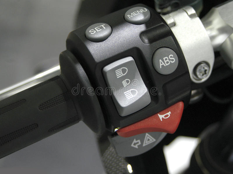 Motorcycle Handle stock image