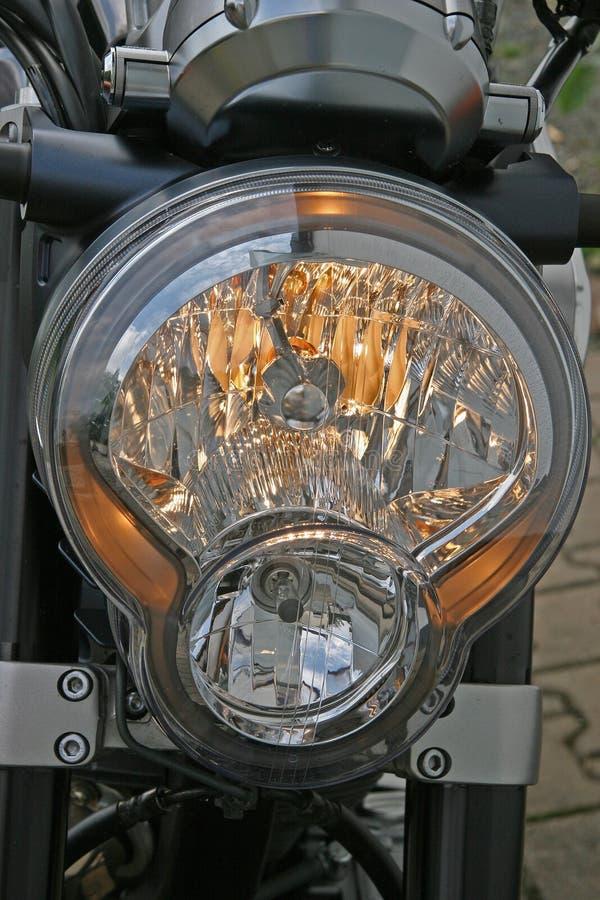 Motorcycle headlight royalty free stock photos