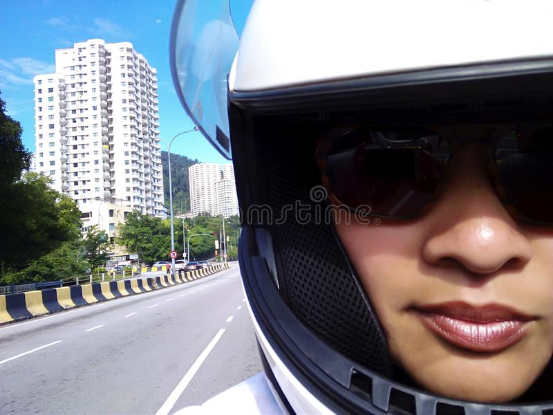 Motorcycle Helmet Safety royalty free stock photo