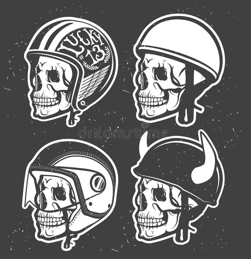 Motorcycle helmet stock illustration