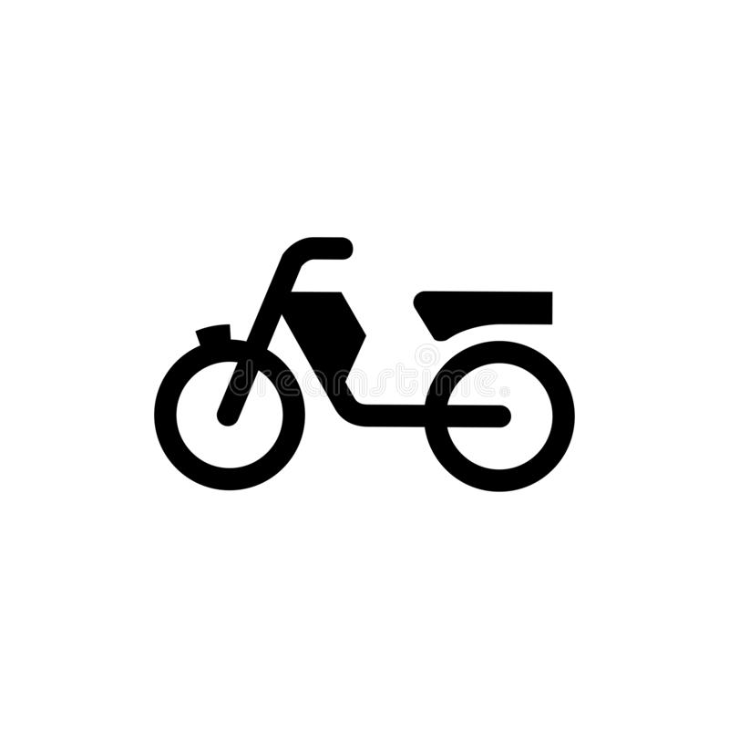 Motorcycle Icon In Flat Style Vector For App, UI, Websites. Black Icon Vector Illustration stock illustration