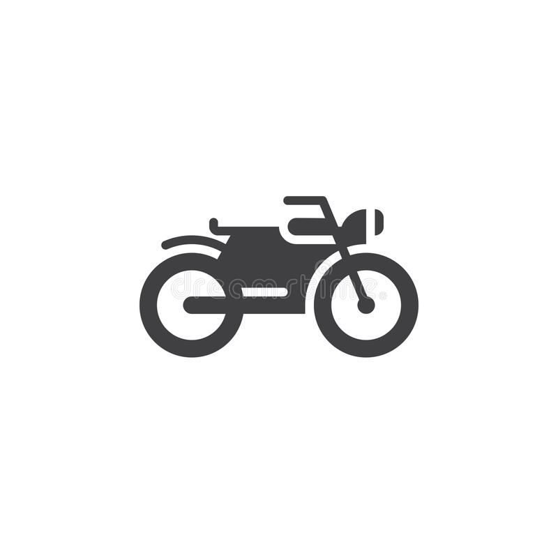 Motorcycle icon , motorbike solid logo illustration, picto. Gram isolated on white vector illustration