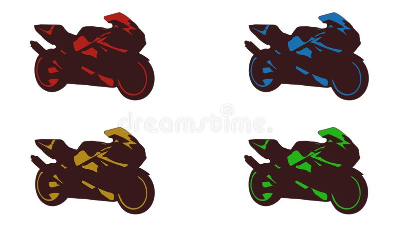Motorcycle icon royalty free illustration