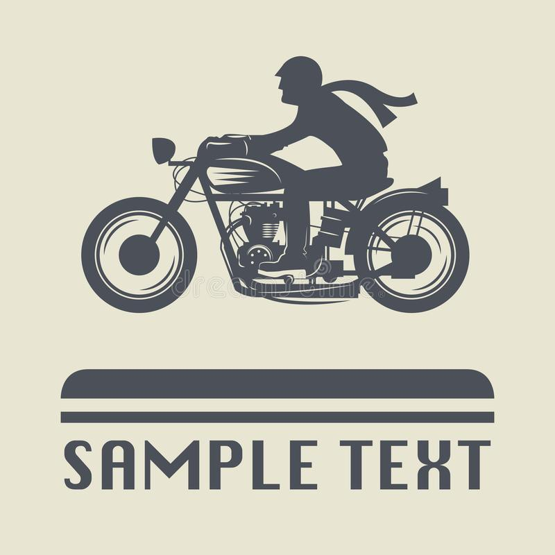 Motorcycle icon or sign. Vector illustration vector illustration