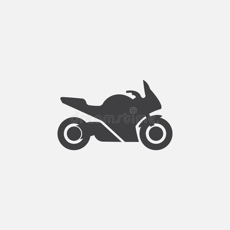Motorcycle icon vector isolated on grey background royalty free illustration