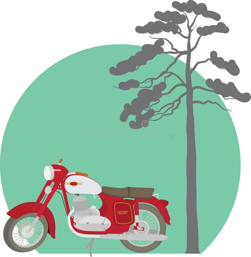 Motorcycle java stock photo