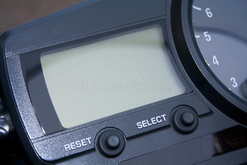 Motorcycle LCD display royalty free stock image