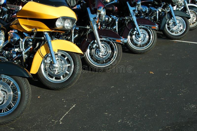 Motorcycle lineup stock image