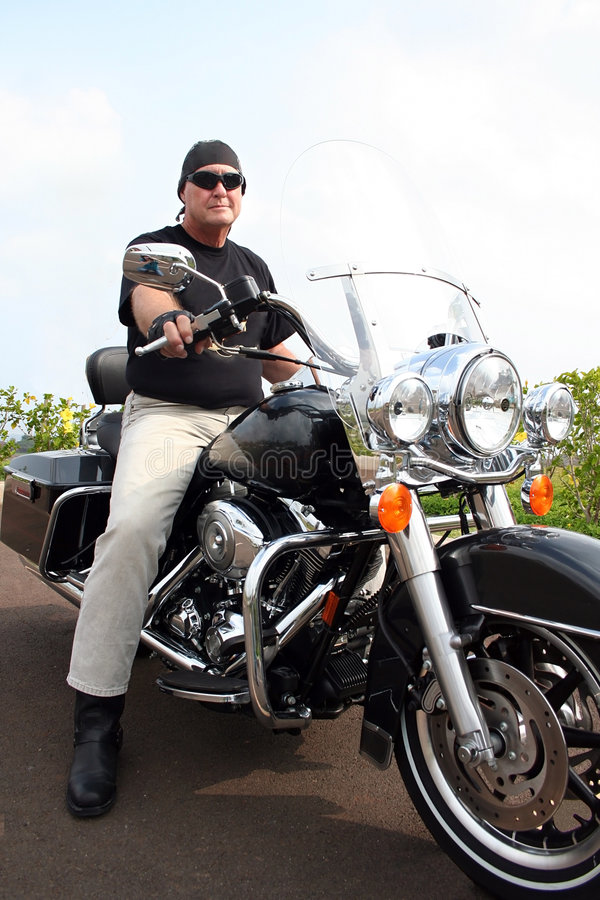 Motorcycle Man royalty free stock images