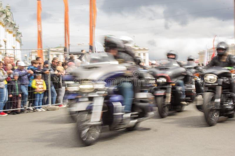 Motorcycle motion blur royalty free stock image
