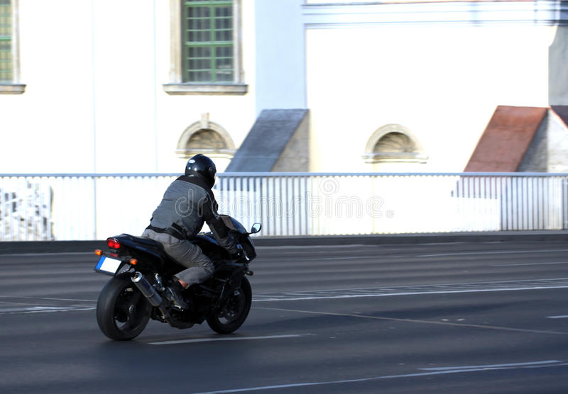 Motorcycle Moving Royalty Free Stock Image