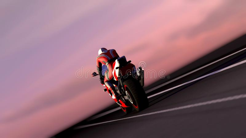 Motorcycle at night vector illustration