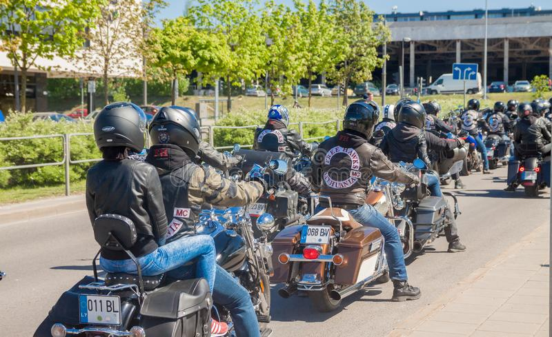 Motorcycle Parade in Lithuania royalty free stock photography