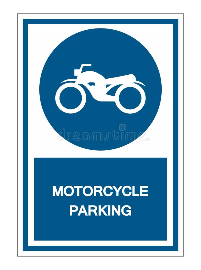 Motorcycle parking Symbol Sign Isolate On White Background,Vector Illustration EPS.10 vector illustration