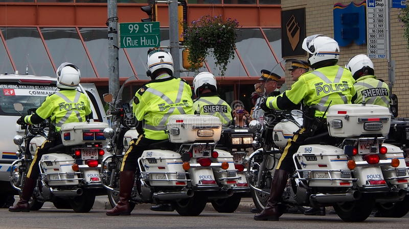 Download Motorcycle Police In Edmonton Editorial Stock Image - Image: 33612064