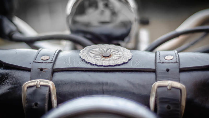 Download Motorcycle pouch stock image. Image of retro, blur, black - 54602681