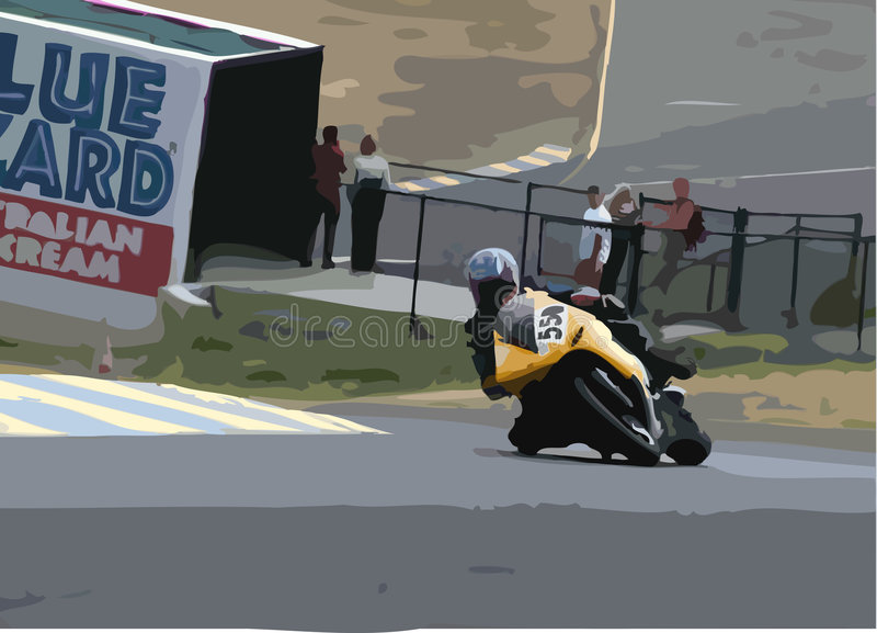 Download Motorcycle Race stock illustration. Image of fast, national - 870747