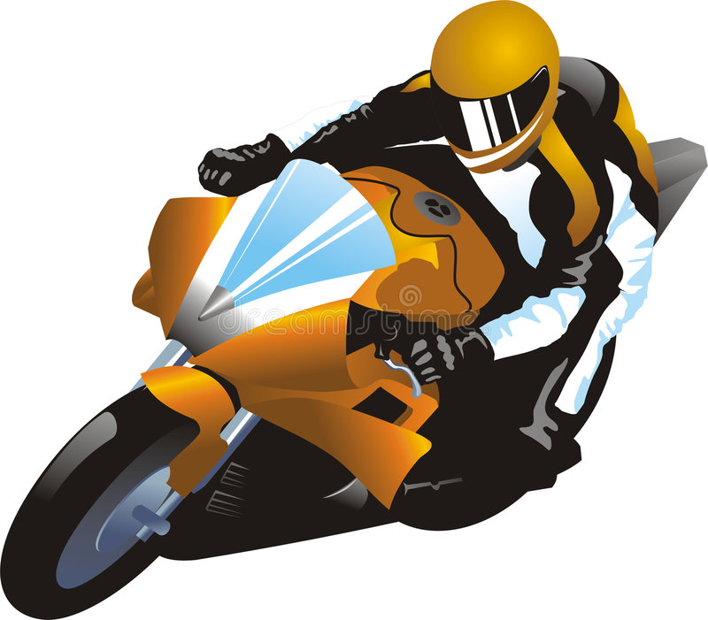 Download Motorcycle racer stock vector. Image of freedom, active - 9196121