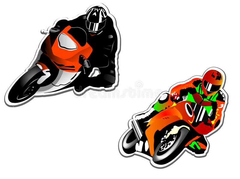 Motorcycle Racers Royalty Free Stock Photography