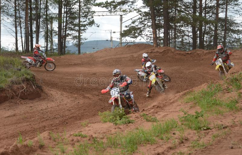 Motorcycle Racing. Rally cross-country royalty free stock image