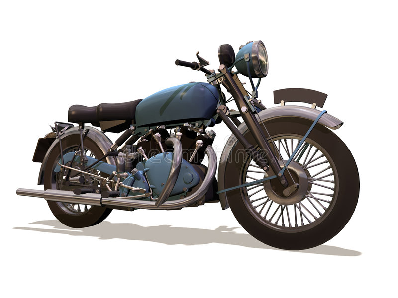 Motorcycle retro stock illustration