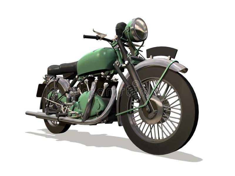 Motorcycle retro royalty free illustration
