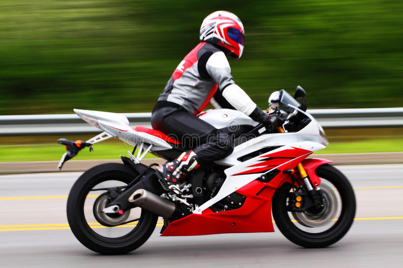 Download Motorcycle Rider stock photo. Image of racer, bike, white - 14542986