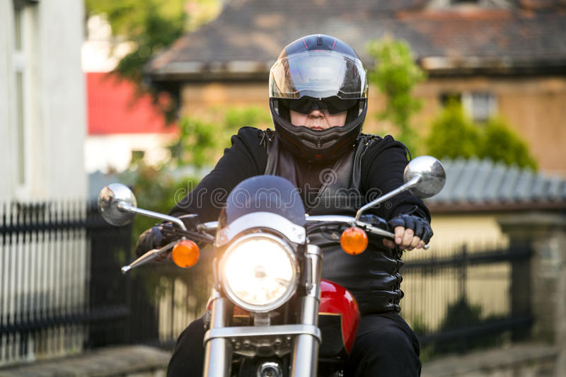 Motorcycle rider stock images