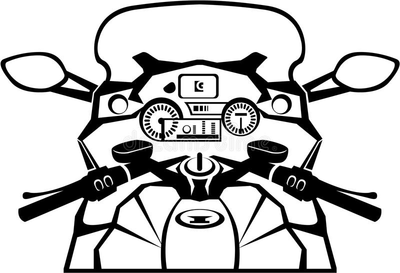 Motorcycle Riders View. Illustration clip-art vector royalty free illustration