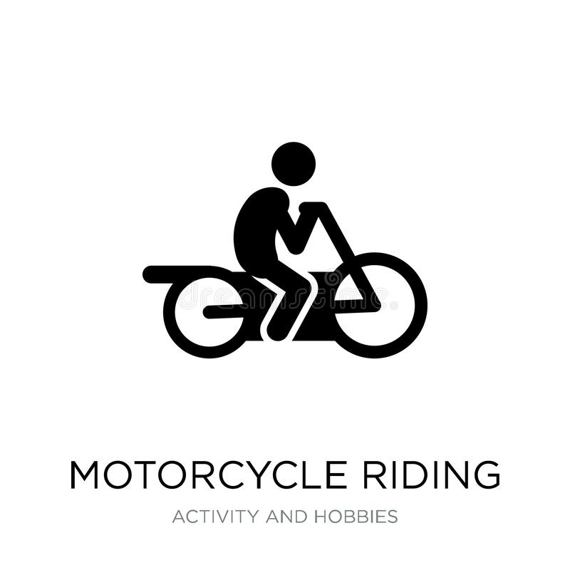 Motorcycle riding icon in trendy design style. motorcycle riding icon isolated on white background. motorcycle riding vector icon. Simple and modern flat symbol stock illustration