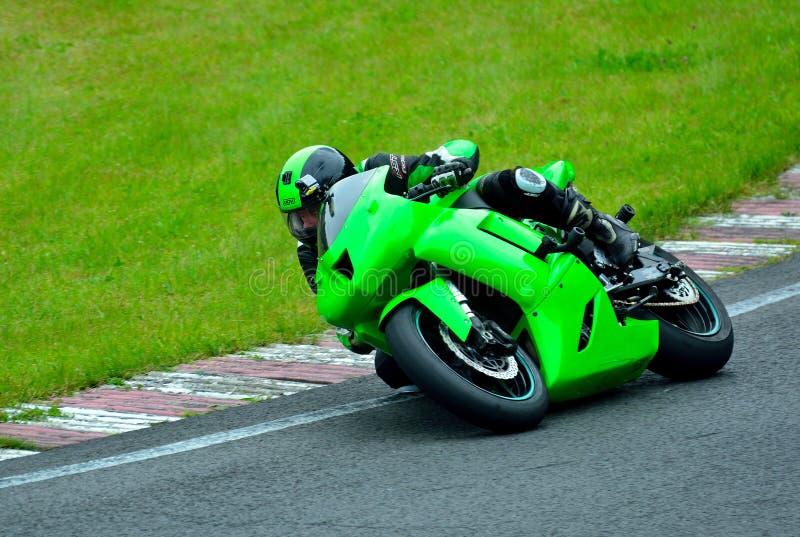 Motorcycle riding session on WallraV Race Center royalty free stock photos