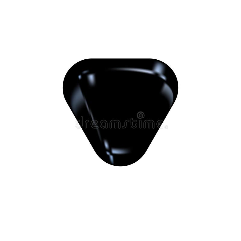 Motorcycle saddle icon in black and white style, isolated on white background. Black shiny skin. For the driver of the motorcycle. stock illustration